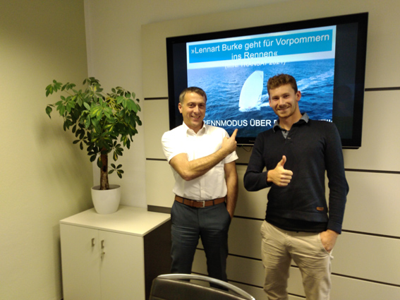 Lennart Burke und Dr. Stefan Kerth